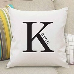 Personalised Name in Initial Cushion