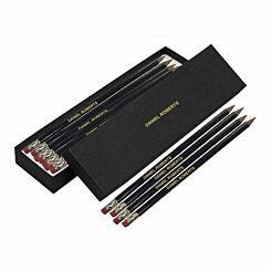 Personalised Pencils Box of 12 Black