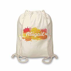 Personalised Splash Drawstring Bag