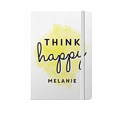 Personalised Think Happy Notebook A5