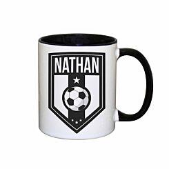 Personalised Football Badge Mug