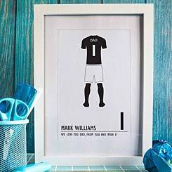 Personalised Football Kit A4 Framed Print