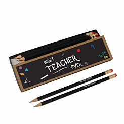 Personalised Best Teacher Chalkboard Pencils in Box