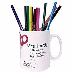 Personalised Teacher Mug with Pencils