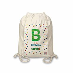 Personalised Very Hungry Caterpillar Drawstring Bag