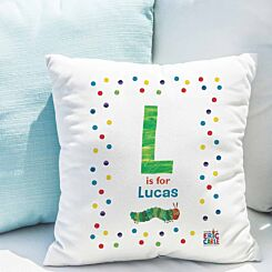 Personalised Very Hungry Caterpillar Initial Cushion