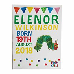 Personalised Very Hungry Caterpillar Canvas