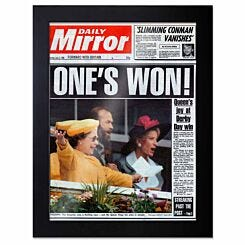 Personalised Front Page Framed A4 Print