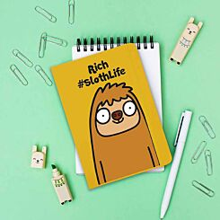 Personalised Sloth Life Notebook
