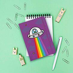 Personalised Cosmic Spaceship Notebook