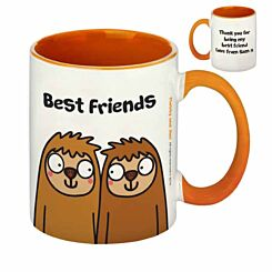 Personalised Best Friends Sloth Mug