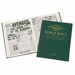 Personalised WW2 Newspaper Book