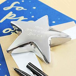 Personalised Engraved Star Paperweight
