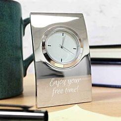 Personalised Engraved Desk Clock