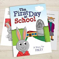 Personalised First Day at School Softback Book