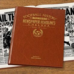 Personalised Chelsea FC Newspaper Book A4