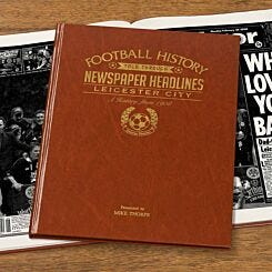 Personalised Leicester City FC Newspaper Book A4