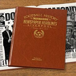 Personalised Liverpool FC Newspaper Book A4