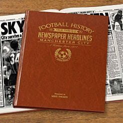 Personalised Manchester City FC Newspaper Book A4
