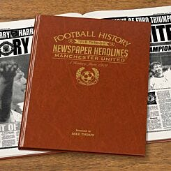 Personalised Manchester United FC Newspaper Book A4