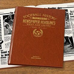 Personalised West Ham FC Newspaper Book A4
