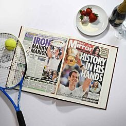 Personalised Wimbledon Tennis Newspaper Book A4