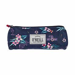 ONeill Floral Pencil Case Blue