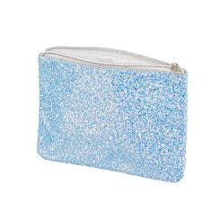 Glitter Flat Pencil Case Blue