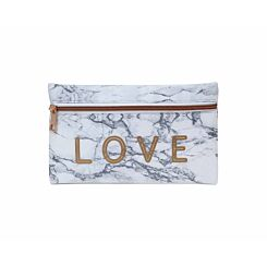 Marble Print Love Pencil Case