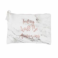 Marble Slogan Pencil Case