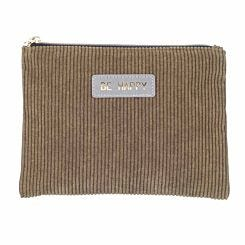 Corduroy Flat Pencil Case