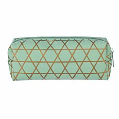 Gold Geo Wedge Pencil Case Mint