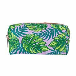 Purple Palm Print Pencil Case