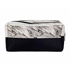 Triple Pocket Marble Print Pencil Case