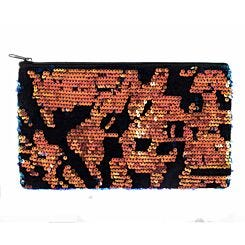 Ryman Flippable Sequin and Black Velvet Flat Pencil Case