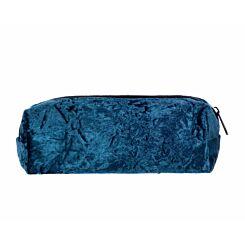 Ryman Blue Crushed Velvet Pencil Case