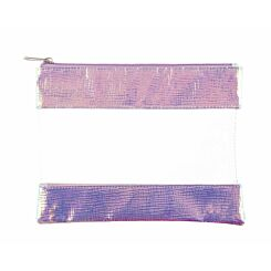 Ryman Clear and Iridescent Pencil Case