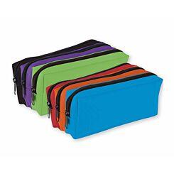 Triple Pocket 3 Colour Pencil Case Assorted