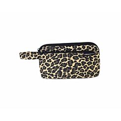 Leopard Canvas Flat Pencil Case