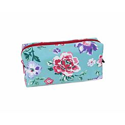 Floral Mint Wedge Pencil Case