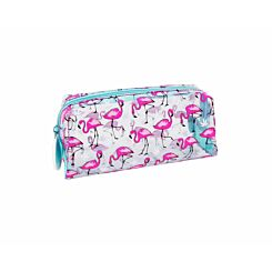 Flamingos Clear Wedge Pencil Case