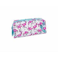 Flamingos Clear Wedge Pencil Case