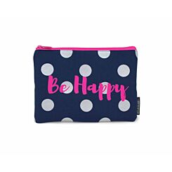 Be Happy and Be You Flat Pencil Case Assorted