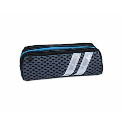 Sport Stripe Reflective Wedge Pencil Case Grey and Blue