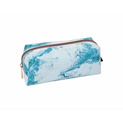 Blue Marble Wedge Pencil Case