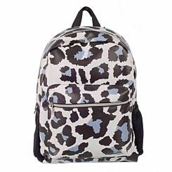 White Leopard Print Backpack