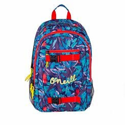 ONeil Blue Leaves Double Backpack