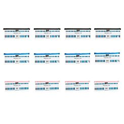 Ryman Pencil Case 13x5 Pack of 12 Clear