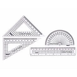 Helix Geometry Set Oxford 4 Piece Pack of 10 Clear