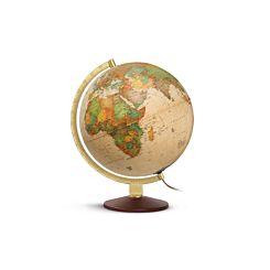 Nova Rico Ocra Illuminated Globe 25cm